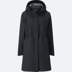 WOMEN BLOCK TECH COAT, BLACK, large