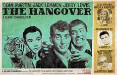 Alternate Movie Posters - The Hangover - Dean Martin Jack Lemmon and Jerry Lewis
