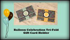 Balloon Celebration Tri-Fold Gift Card holder