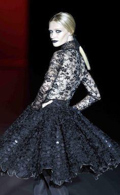 Hannibal Laguna F/W 2013-14 black lace
