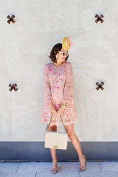 """What I wore to the Kentucky Oaks - day 1 of Kentucky Derby weekend, also known as """"ladies day"""" or """"pink day"""""""
