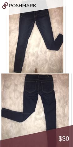Jeggings! American eagle super stretch jeans. Very comfortable skinny jeans. A navy blue color. American Eagle Outfitters Pants Skinny
