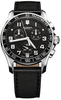 Victorinox Swiss Army® 'Chrono Classic' Leather Strap #Watch