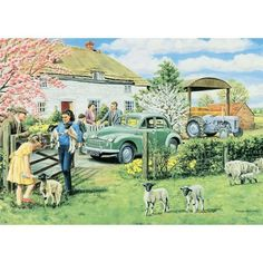 Jigsaw Puzzles Direct - A huge range of jigsaws, jigsaw puzzles, mind puzzles and accessories for all ages that you can buy online. Jigsaw Puzzles Uk, Mind Puzzles, Sheep Paintings, Best Jigsaw, Nostalgic Art, Puzzle Art, Shops, Military Art, Art Auction