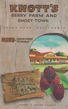 vintage travel brochures | Vintage 1950s Travel Brochure Knott's Berry Farm And Ghost Town ...