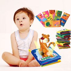 Soft Cloth Baby Kid Child Intelligence Development Learn Picture Cognize Book EA
