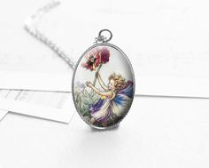 Medium Necklaces – Girl Necklace, Flower, Garden, Gift Idea, N405 – a unique product by petiteVanilla on DaWanda