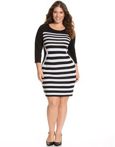 Striped sweater dress by Lane Bryant. What can I say? I'm a sucker for a cute sweater dress. This one is on the way!