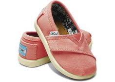 $29 TOMS tiny classic canvas in pink.  www.strutdenver.com