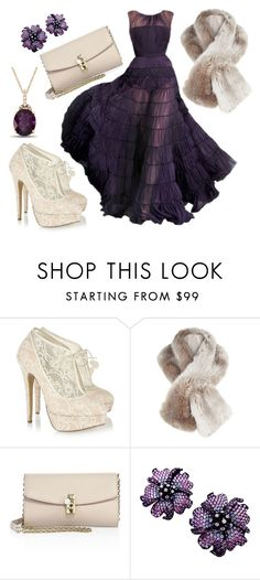 """""""Purple and Cream"""" by des4etoo ❤ liked on Polyvore featuring Charlotte Olympia, Jacques Vert and Dolce&Gabbana"""