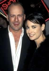 Bruce Willis & Demi, first wife,  (1987–2000) three children, Rumer, Scout, & Tallulah