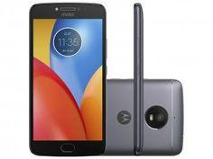 "Smartphone Motorola Moto E4 Plus 16GB Titanium - Dual Chip 4G Câm. 13MP + Selfie 5MP Tela 5.5"" HD"