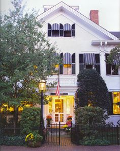 stayed at The Charlotte Inn in Edgartown, Martha's Vineyard. I had seen it written up in TOWN & COUNTRY magazine and it was as wonderful as it sounded.