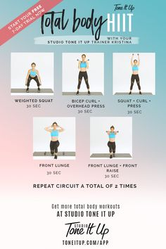 Total Body HIIIT workout!