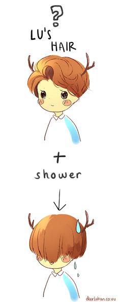 #exo #luhan this drawing is so cute!!