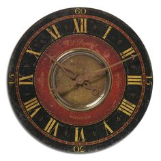 'Dupont' 27-inch Weathered Wall Clock - Overstock™ Shopping - Great Deals on Clocks