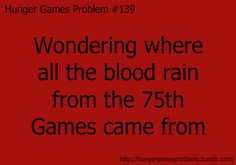 Hunger Games Problems.....this makes me nervous...and get ideas....;)
