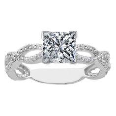 Princess Engagement Ring infinity Love symbol