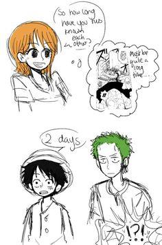 Yeah.. Luffy and zoro are friendship goals