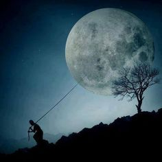 The night I took the moon for a walk.
