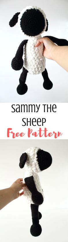 Sammy the sheep! Get the free amigurumi pattern here, and make one for Easter!