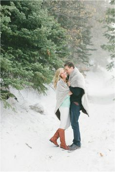 Southern California Snowy Engagement Session by Richelle Dante Photography