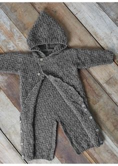 Mag. 176 #09 Hooded all-in-one Patterns. Newborn to 12 months