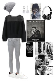 """""""Gray day"""" by kat-johnson-98 on Polyvore featuring Chicwish, Topshop, Mother, The North Face and Beats by Dr. Dre"""