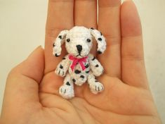 Dalmatian  Crochet Miniature Dog Stuffed Animals  Made To by SuAmi