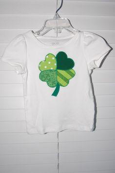 Boutique Custom Heart Shamrock Shirt by SweetNSassyCreations, $20.00