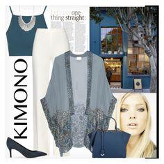 """KIMONO"" by dodine ❤ liked on Polyvore featuring Topshop, Diane Von Furstenberg, Coffee Shop, Anna Sui, Fendi, Jigsaw and kimono"