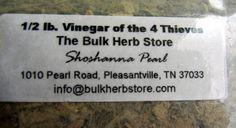 Vinegar of the four thieves, Bulk Herb Store, cut herbal mixture