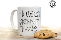 Haters gonna hate Mug Water Bottle and/or Thermos by UncleJesses funny mug taylor swift lover gift idea