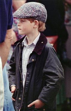 July 13, 1992: Adorable Prince Harry watching his father's polo match at Cirencester.(x, x)