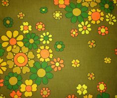 Vintage-Retro-1960s-2970s-Flower-Power-San-Fransisco-Unused-Fabric-Over-2m