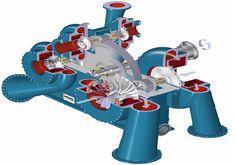 Центрбежный компрессор со встроенным редуктором