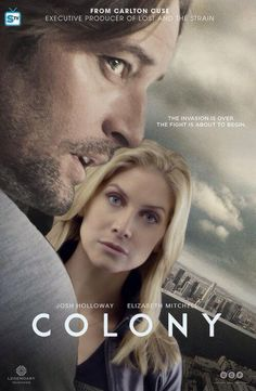 FANMADE Colony poster of Josh Holloway and Elizabeth Mitchell (taken from Erica Evans photoshoot from TV Show, V) made by @carinestrands/@julietburked on Twitter.