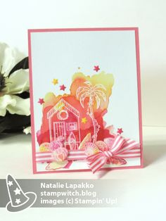 Homemade card by Natalie Lapakko with a sneak peek of Beachy Little Christmas from the Stampin' Up! 2017 Holiday Catalog