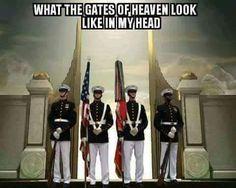 What the gates of heaven look like in my head. #Marine