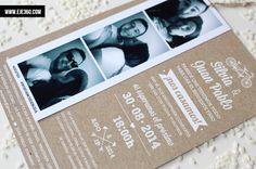 Invitación con tira de fotos, una opción ideal para inmortalizar vuestras mejores fotografías.