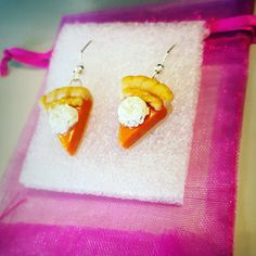 Check out this item in my Etsy shop https://www.etsy.com/listing/253515637/pumpkin-pie-earrings-pumpkin-pie-jewelry