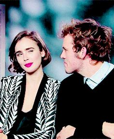 When he made this face at Lily Collins. | Community Post: 18 Times Sam Claflin Proved He Was The Most Adorable Person Ever