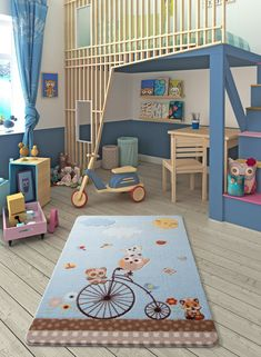 BonLaVie added a new photo. Light Blue Area Rug, Navy Blue Area Rug, White Area Rug, Beige Area Rugs, Baby Blue Colour, Light Blue Color, Childrens Rugs, Baby Room Rugs