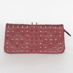 Rebel Studded Bag - Red  #fashion #stylebox
