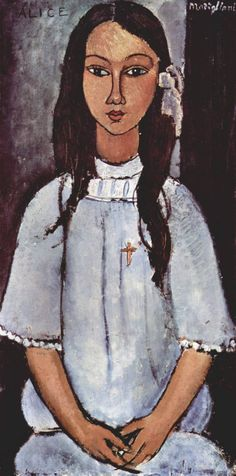 off Hand made oil painting reproduction of Alice, one of the most famous paintings by Amedeo Modigliani. Throughout his short and somewhat turbulent career, the Italian painter Amedeo Modigliani f. Amedeo Modigliani, Modigliani Paintings, Italian Painters, Italian Artist, Art Moderne, Rembrandt, Famous Artists, Oeuvre D'art, Figurative Art