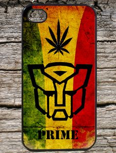 Transform Autobot Prime Weed Case Cover for Iphone 5