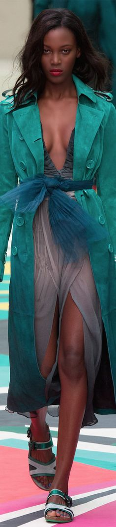 The bright colours of ready-to-wear collection by British brand BURBERRY, Spring 2015