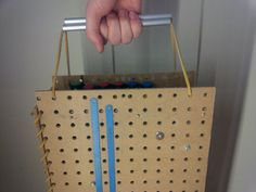 this is just cool for us happy DIY'ers :) Portable Pegboard Workstation