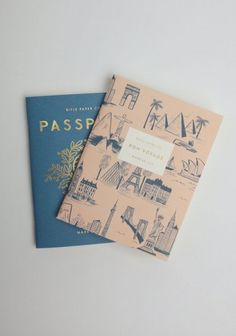 Chic pocket notebooks.  image with a white box with text in in the centre of the front page.