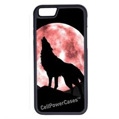 CellPowerCasesTM Howling Wolf iPhone 6 (4.7) Protective V1 Black Case ($13) ❤ liked on Polyvore featuring accessories, tech accessories and black